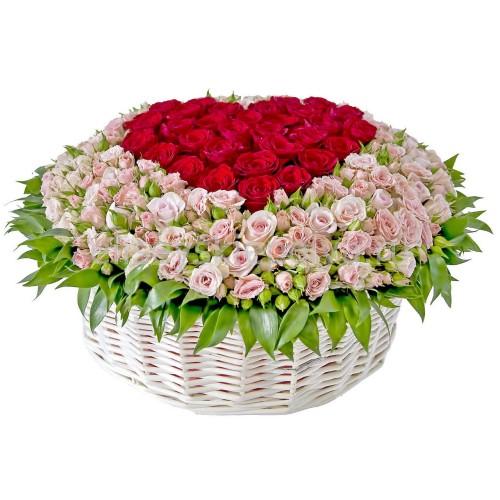 Купить на заказ Заказать Корзина с цветами 9 с доставкой по Жескасгану с доставкой в Жезказгане