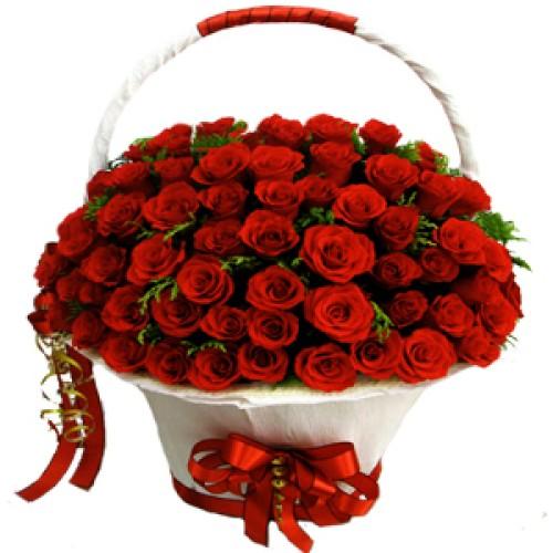 Купить на заказ Заказать Корзина с цветами 8 с доставкой по Жескасгану с доставкой в Жезказгане