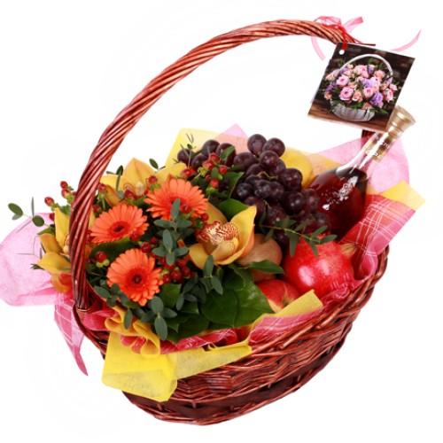 Купить на заказ Заказать Корзина с фруктами 9 с доставкой по Жескасгану с доставкой в Жезказгане