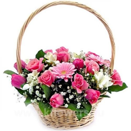 Купить на заказ Заказать Корзина с цветами 6 с доставкой по Жескасгану с доставкой в Жезказгане