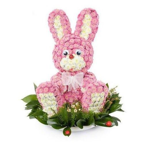 Купить на заказ Заказать Розовый зайчик с доставкой по Жескасгану с доставкой в Жезказгане