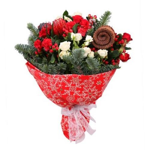 Купить на заказ Заказать Рождественский букет с доставкой по Жескасгану с доставкой в Жезказгане