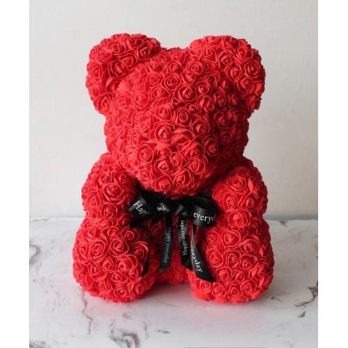 Купить на заказ Мишка из роз с доставкой в Жезказгане