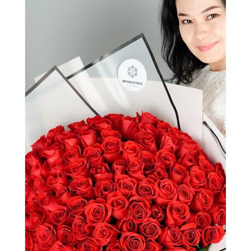 Купить на заказ Заказать Букет из 101 красной розы с доставкой по Жескасгану с доставкой в Жезказгане
