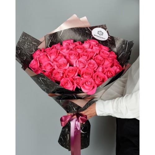 Купить на заказ Заказать Букет из 51 розовых роз с доставкой по Жескасгану с доставкой в Жезказгане