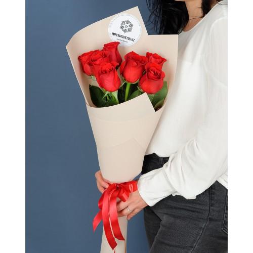 Купить на заказ Заказать Букет из 7 роз с доставкой по Жескасгану с доставкой в Жезказгане
