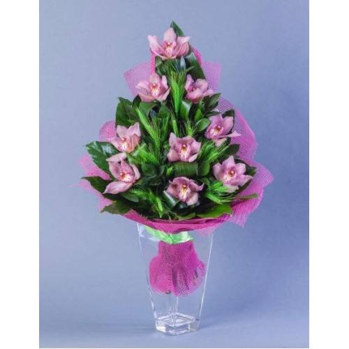 Купить на заказ Заказать Букет из 9 Орхидей с доставкой по Жескасгану с доставкой в Жезказгане